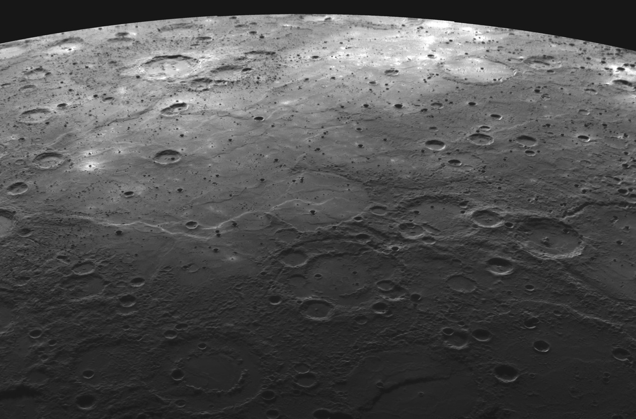 This is a high resolution image of Mercury that was taken by NASA's ...