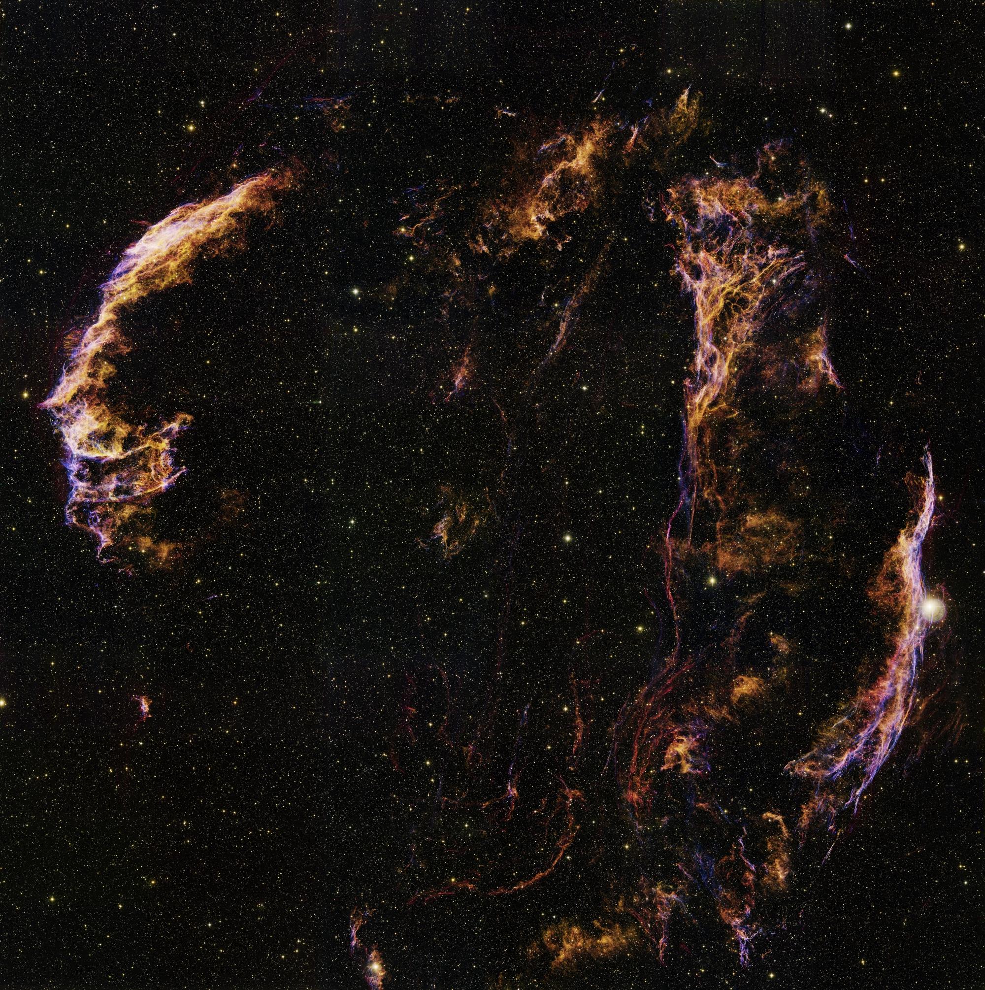 Gulbės vija, 5-10 tūkstančių metų senumo supernovos liekana. ©NOAO, WIYN