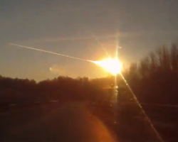 A bright meteor witnessed over Russia on Feb. 15, 2013