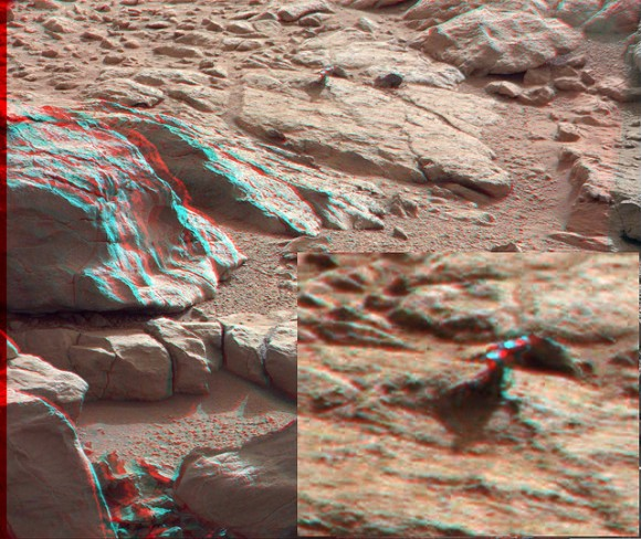 3-D anaglyph from the right and left Mastcam from Curiosity showing the metal-looking protuberance. Credit: NASA/JPL/Caltech/Malin Space Science Systems, <b>discount EPIVIR</b>.  <b>EPIVIR over the counter</b>, Anaglyph by