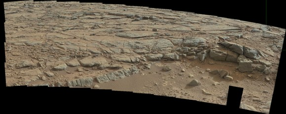 Panorama of the area, from Sol 173. Credit: NASA/JPL/Caltech/Malin Space Science Systems. Image editing by