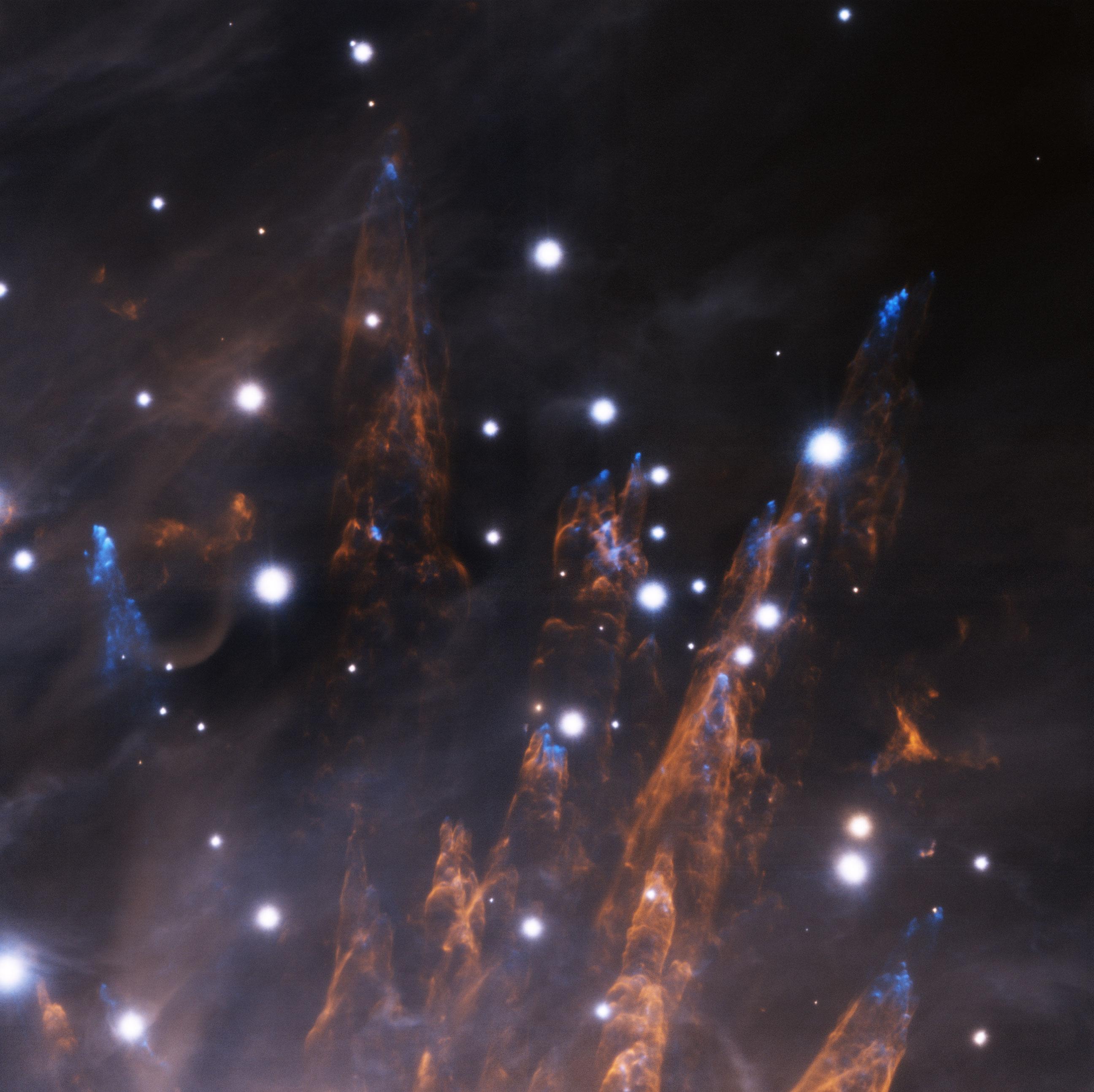 Kulkos ir burbulai Oriono ūke. © Gemini Observatory/AURA