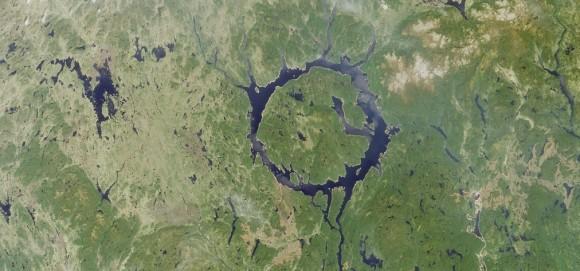 The Manicouagan impact crater in Quebec, Canada (image credit: NASA)
